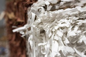 Recycled paper used for molded fiber products